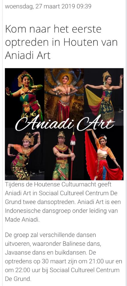 Ons Houten    27 March 2019    With my dance group Aniadi Art    https://www.facebook.com/Artforthegentlespirit/photos/a.2145308732388057/2230234080562188/?type=3&theater