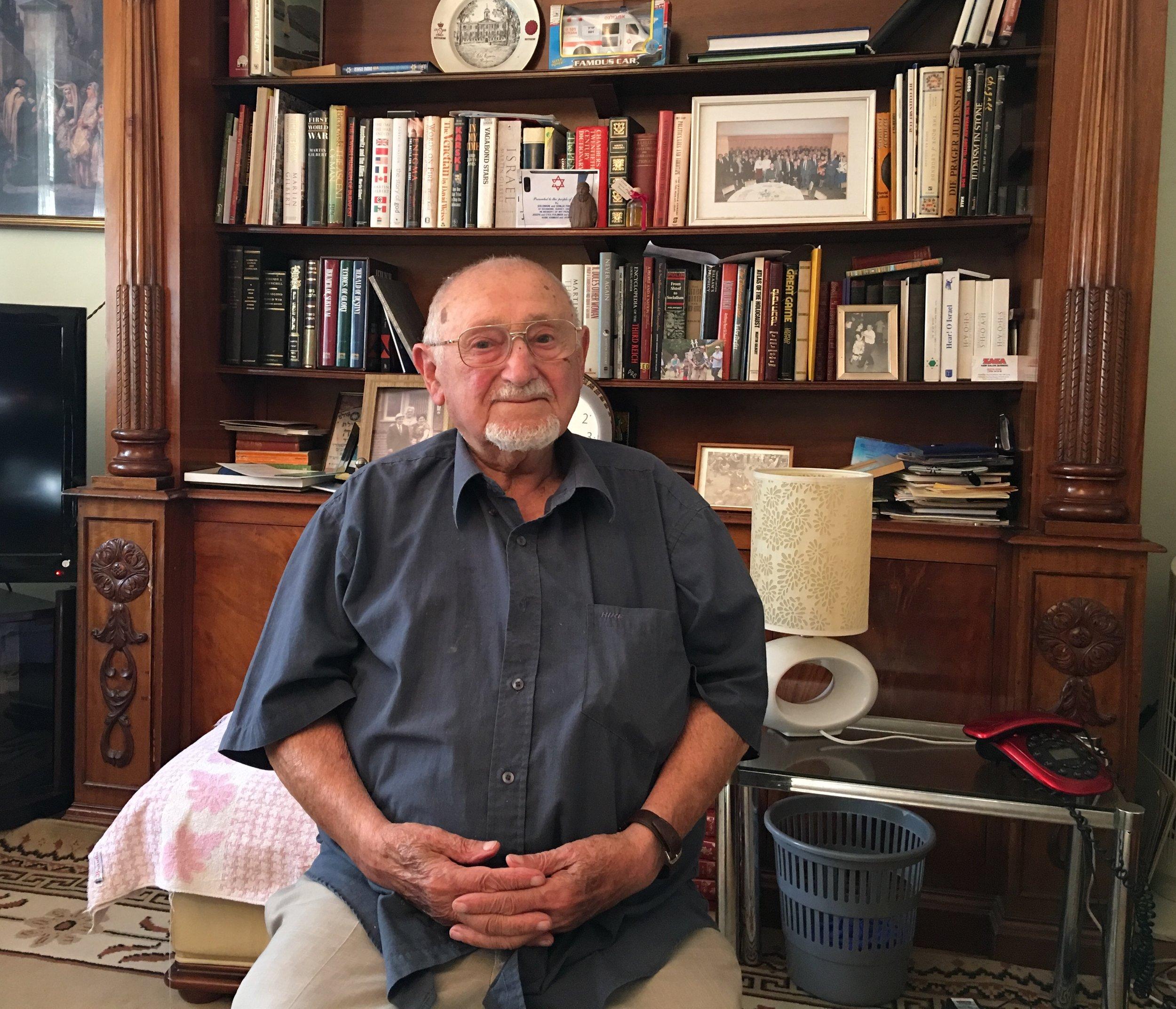Sam Freiman at home in Richmond Surrey, August 2018. Photo: Rosie Whitehouse