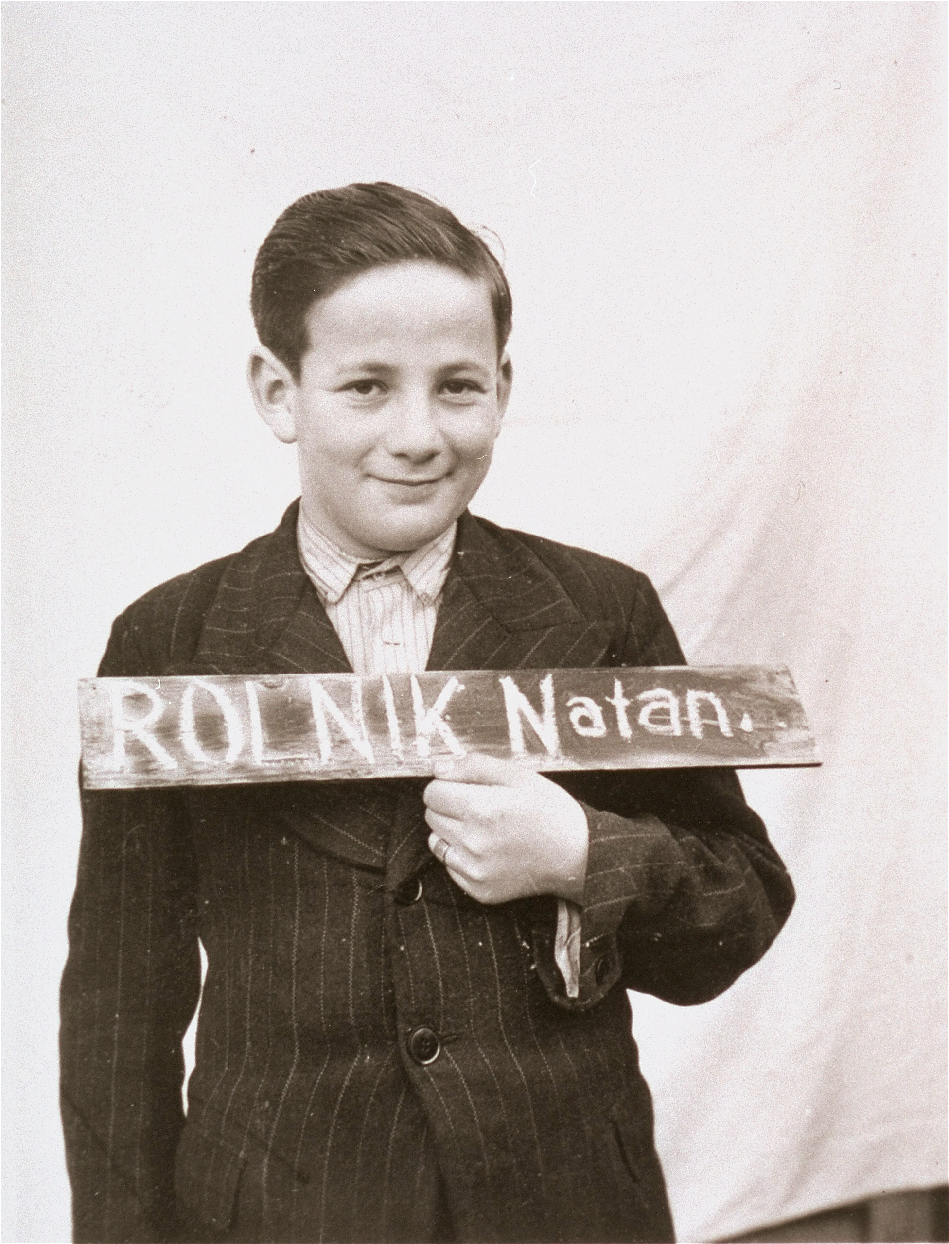 This picture of Natan Rolnik was taken in Kloster Indersdorf in 1945. The image was published in newspapers in hope that someone from his family might be found alive. Picture: USHMM.