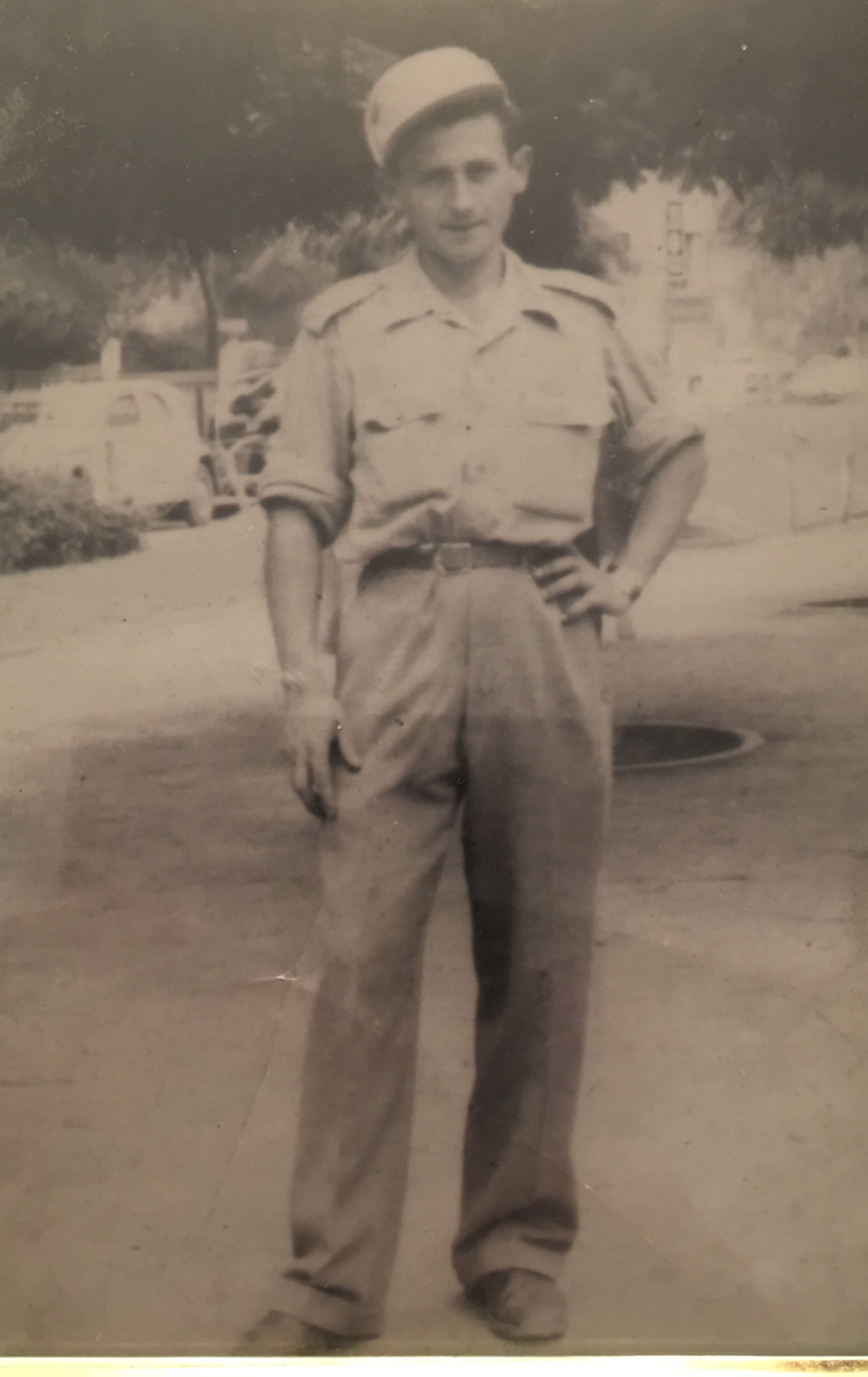 Sam Freiman in the Israeli Army in 1948. Photo: Sam Freiman.