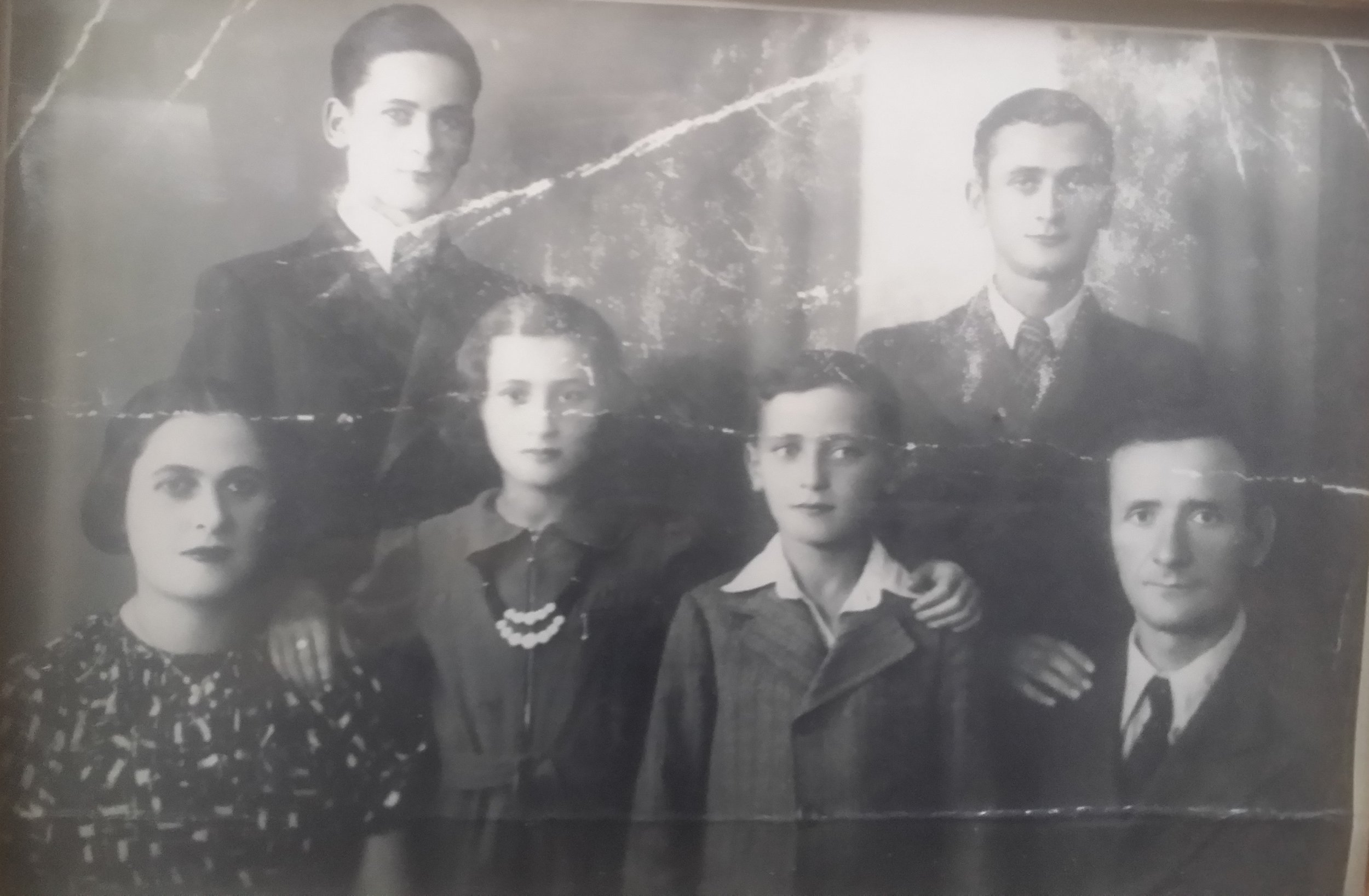 David Kestenberg is the young boy in the front row. He was photographed with his family before the war. He was the only one to survive. Photo: Cindy Kaplan.