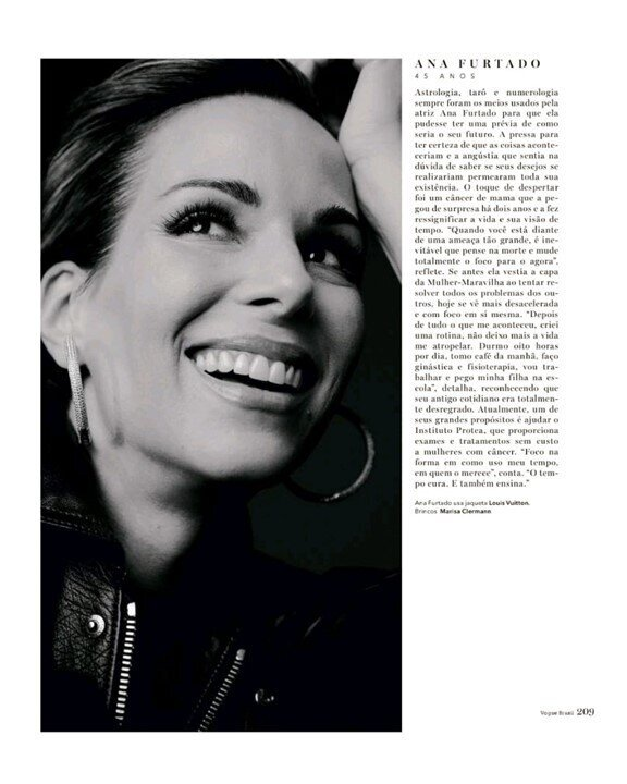 Our ambassador Ana Furtado, in an interview with Vogue Brasil Magazine, tells how Breast Cancer has changed her outlook on life and her support for Protea! - Click on the image to see the full article!
