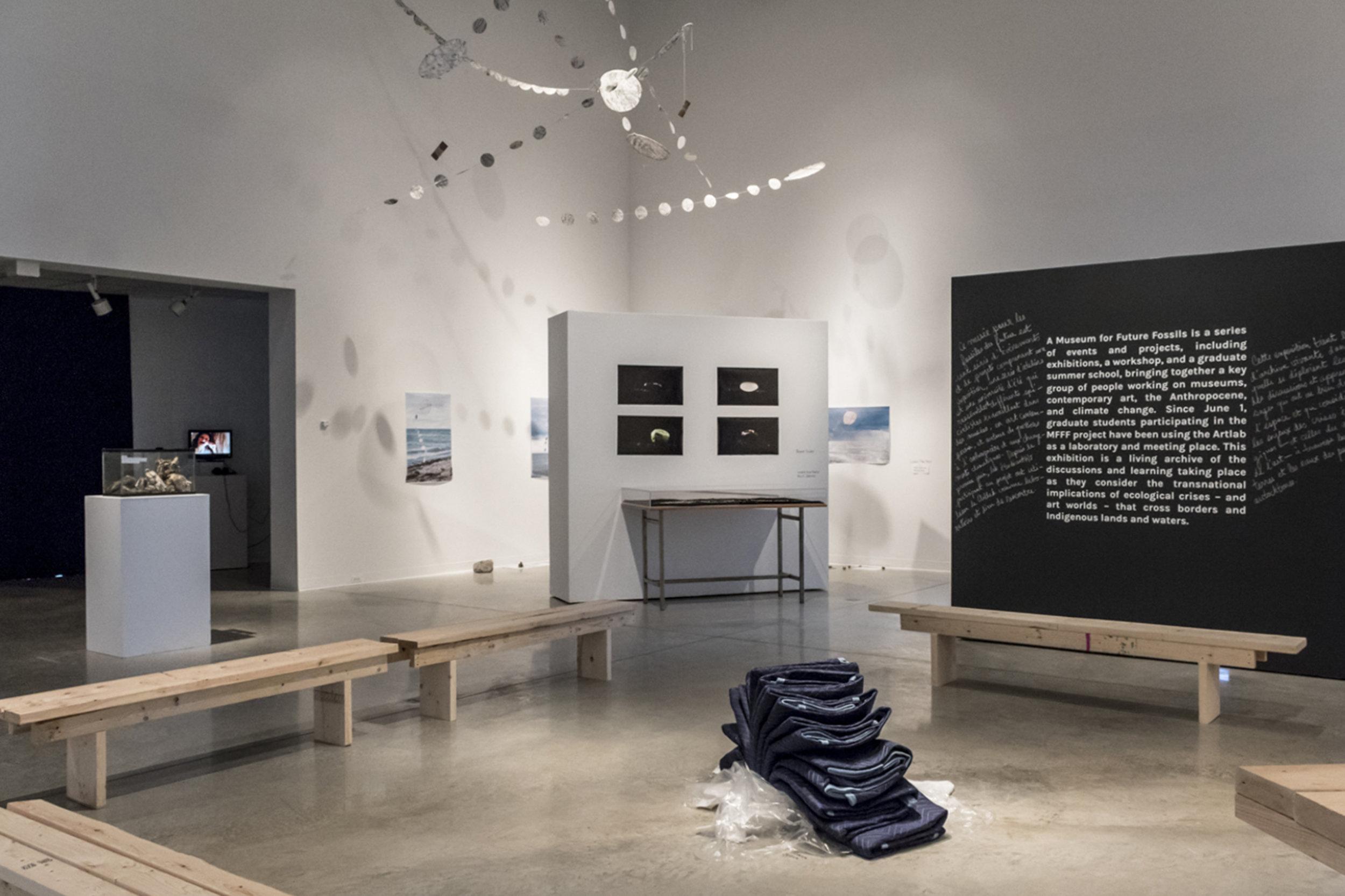 works by Patrick Bova (foreground), Bruno Sinder (background)