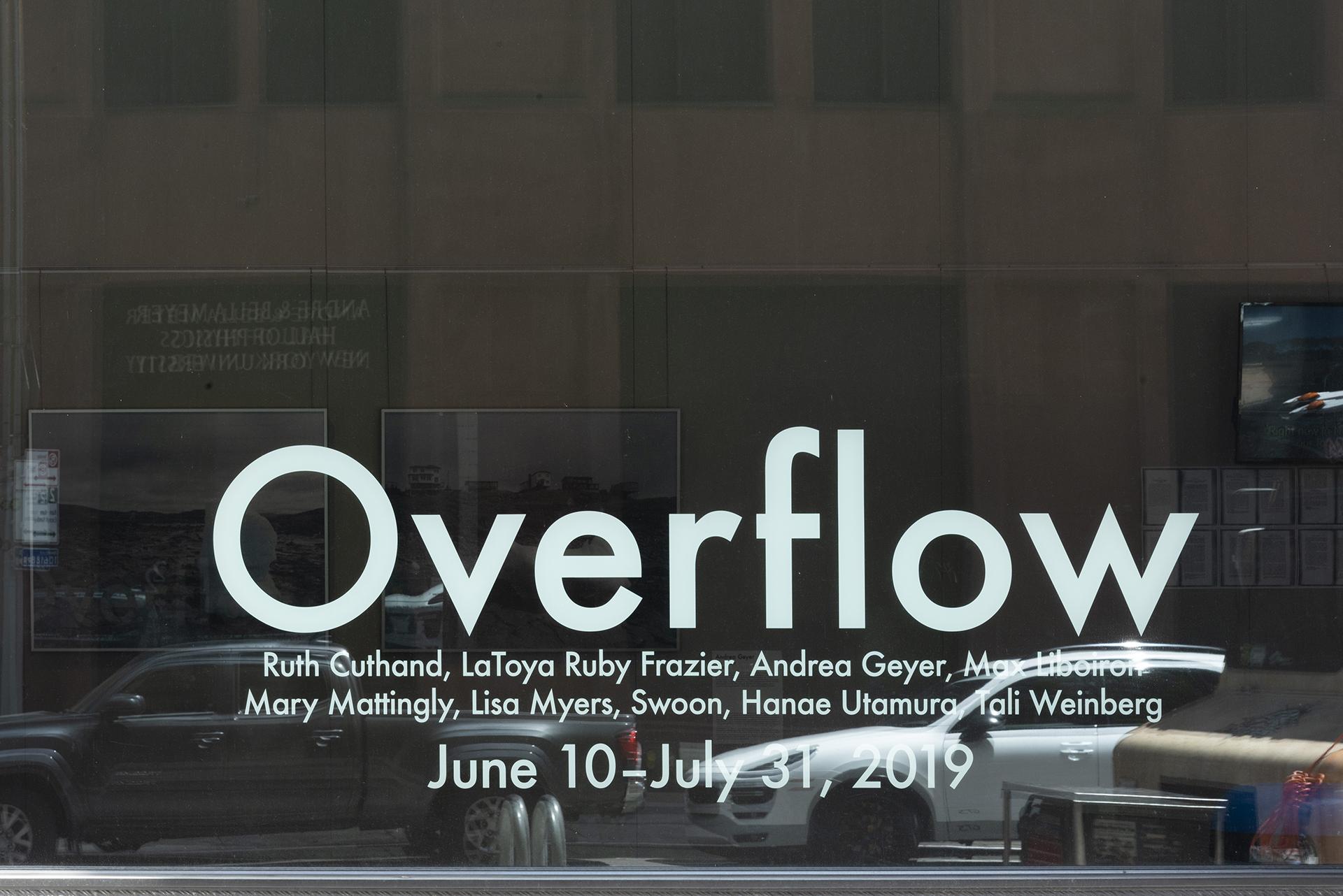 Overflow (exhibition) - NYU Gallatin Galleries, June 10-July 31, 2019