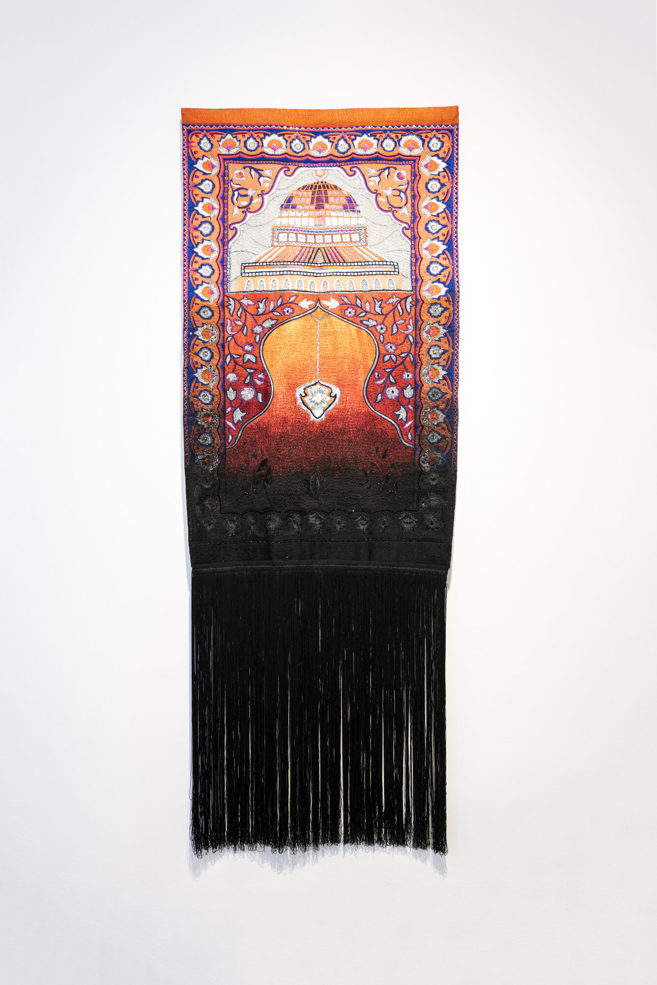 Musallah   Thania Petersen  2018  Cotton-thread on fabric