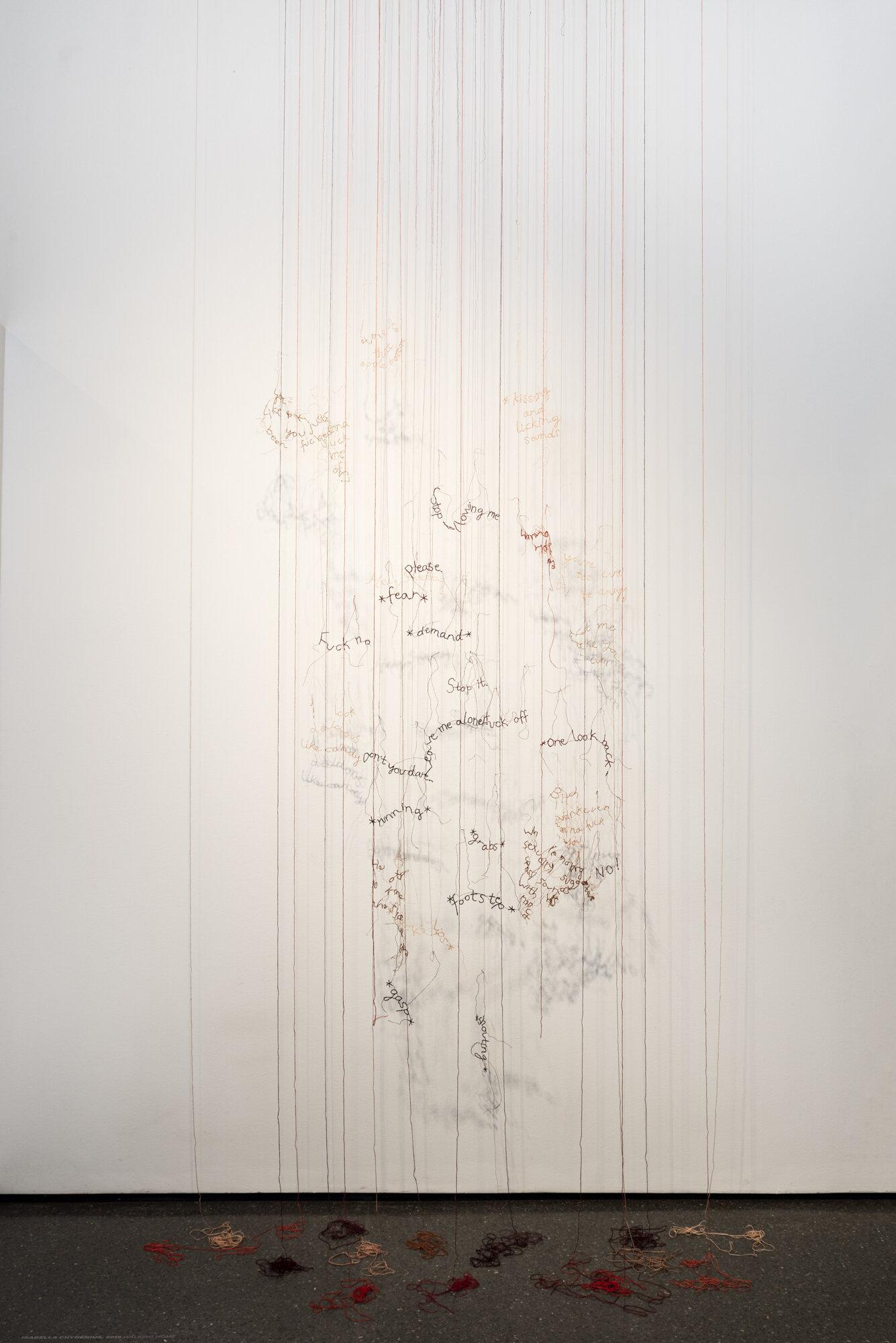 Walking Home   Isabella Chydenius  2019  Cotton-thread installation