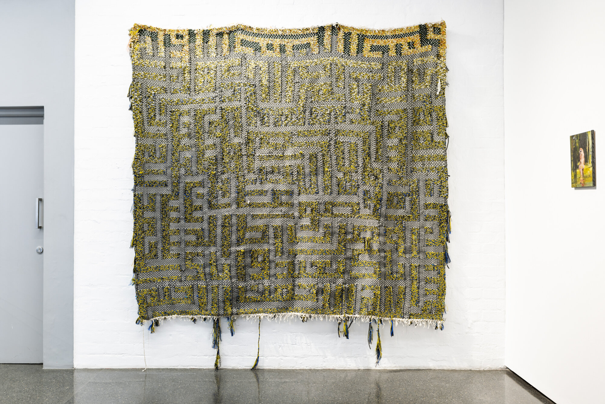 Surah Al-Fatiha II (Part Two)   Igshaan Adams  2016  Braided nylon rope and cotton twine
