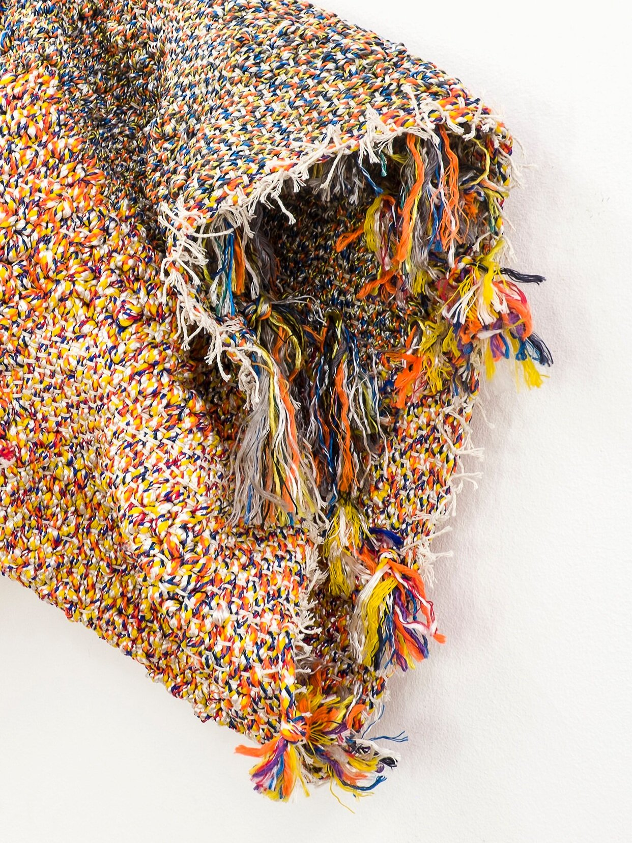 Conduit I (Detail)   Igshaan Adams  2018  Braided nylon rope and cotton twine
