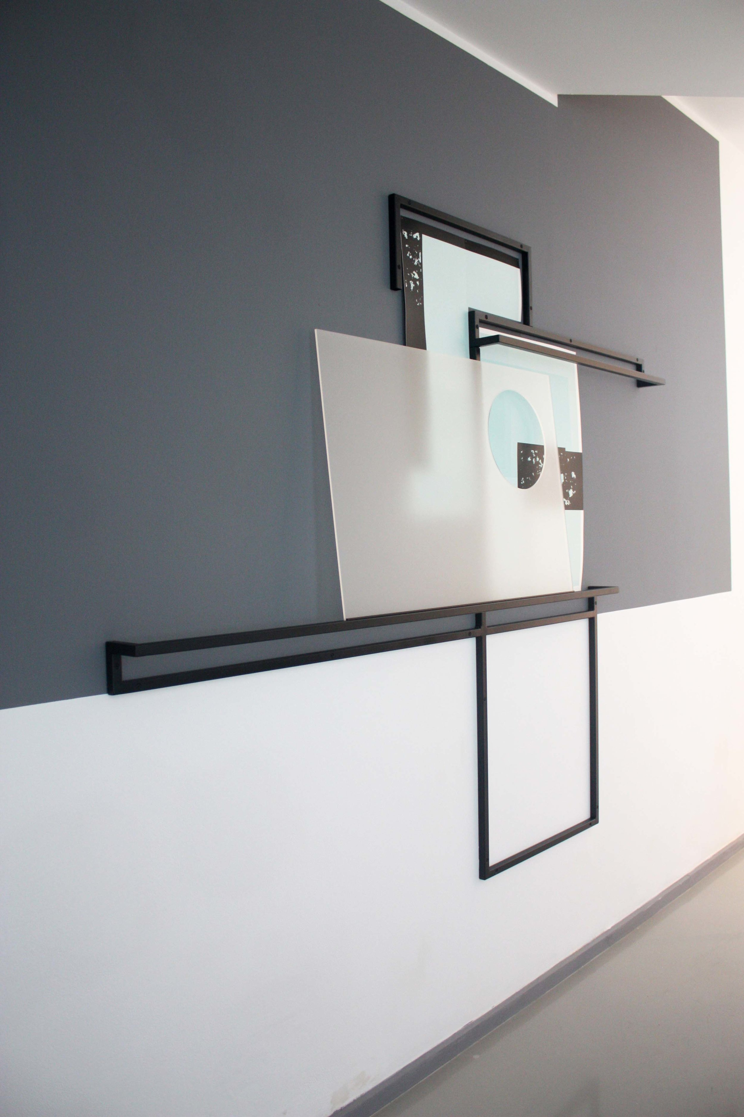 Sway with me, 2011 Steel, lacquer, screen-print on paper, household paint, laser-cut acrylic  Laure Genillard , London, UK
