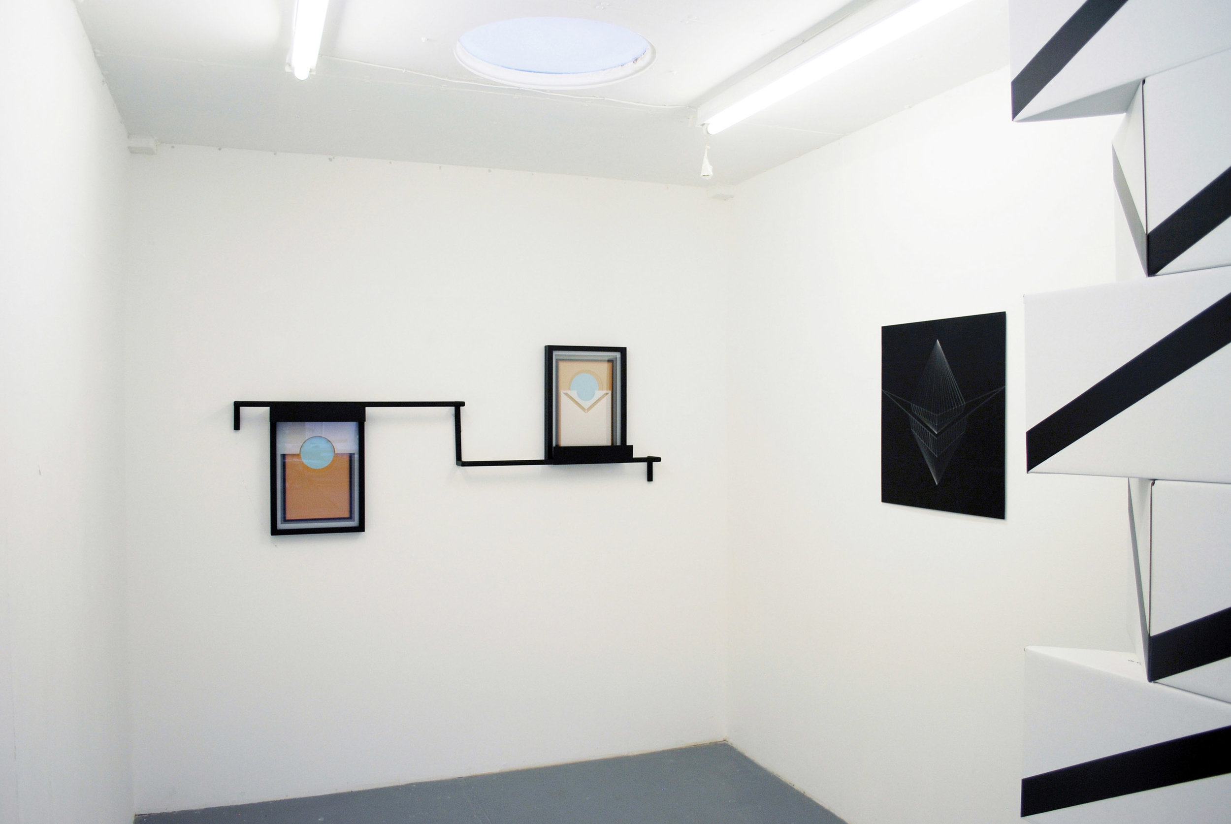 Pioneers!Oh Pioneers! , 2011 Steel, lacquer, wood, glass, laser cut acrylic, acrylic paint Installation view U8 Projects, Japan
