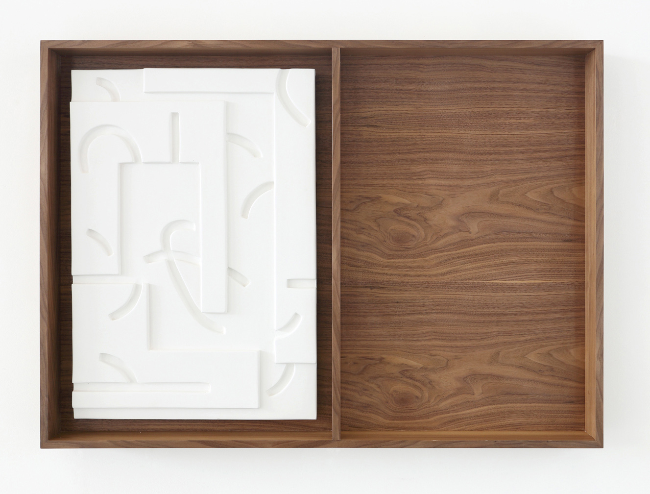 This is where you'll find me (panel 2) , 2013 Plaster, lacquer, walnut veneered mdf