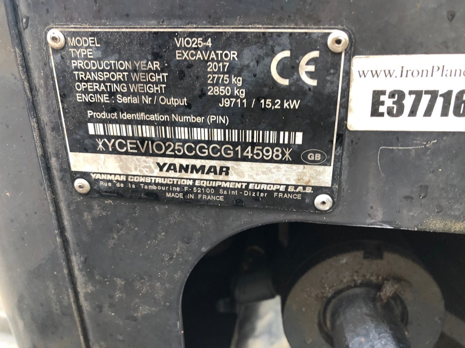 Yanmar V1025-4 - USED — D&J Machinery