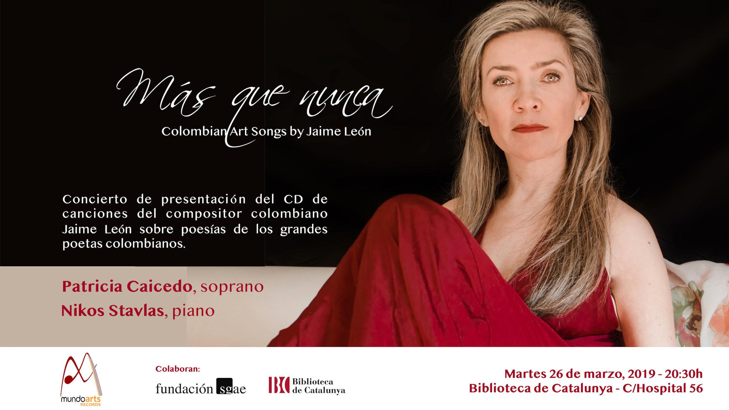 Concierto de presentación Jaime León