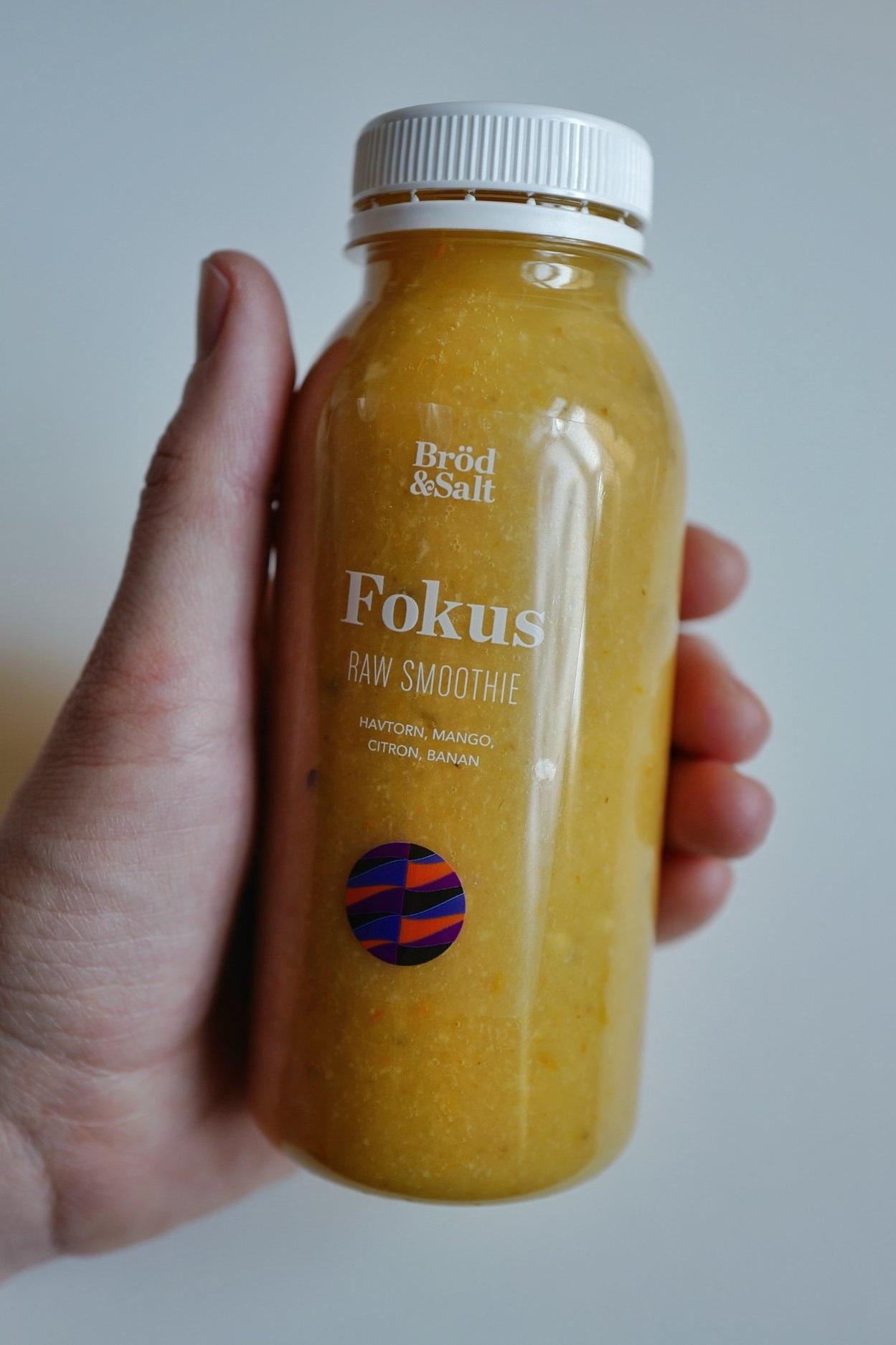 Fokus! Raw Smoothie 45:- - Havtorn, mango, citron, banan