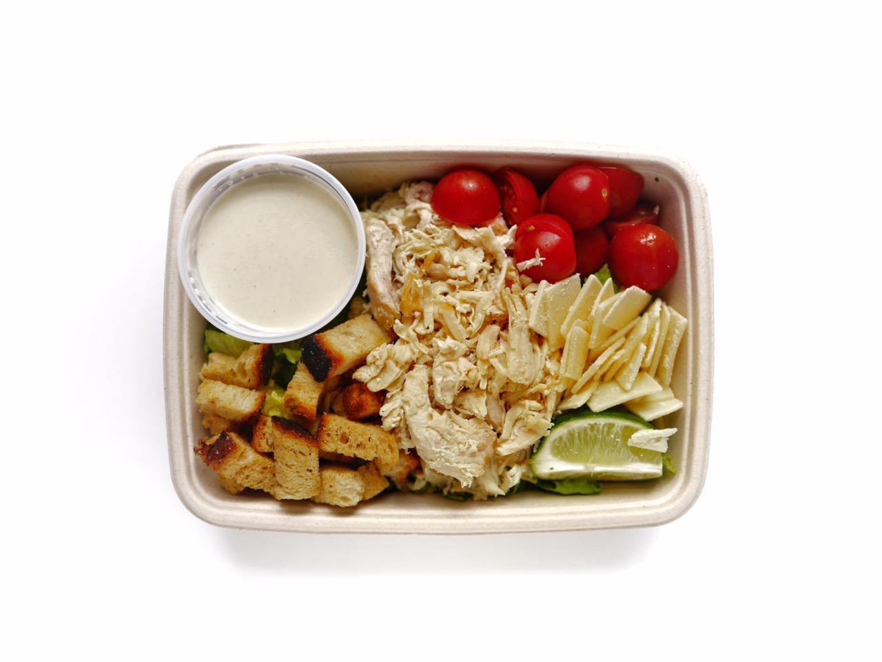 Ceasarsallad 105:- - Romansallad, kyckling, krutonger, parmesan, tomat, lime, ceasardressing,