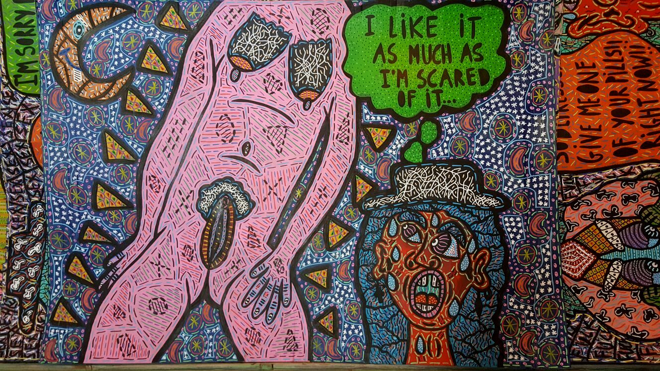 """""""I like it as much as I am scared of it..."""" , 2015    170 x 120 cm"""