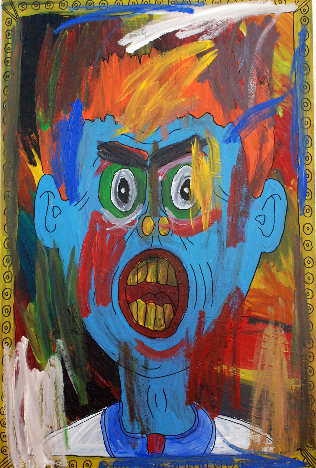"""""""Dorian Gray"""" , 2012   Acrylic paint on wood, 90 x 130 cm Private Collection"""