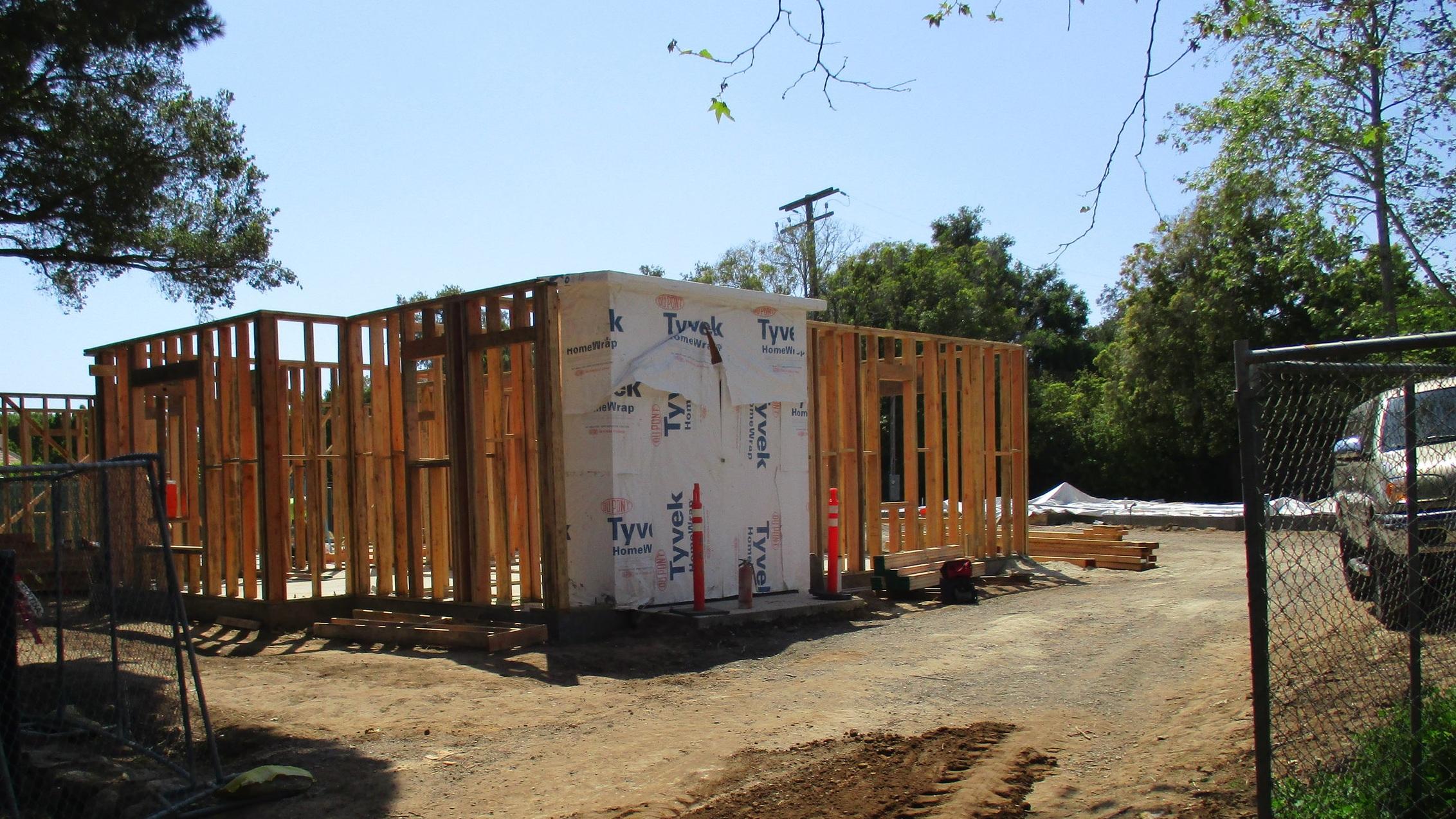 Casa Dorinda, North Villas, 4/2/19  Framing underway