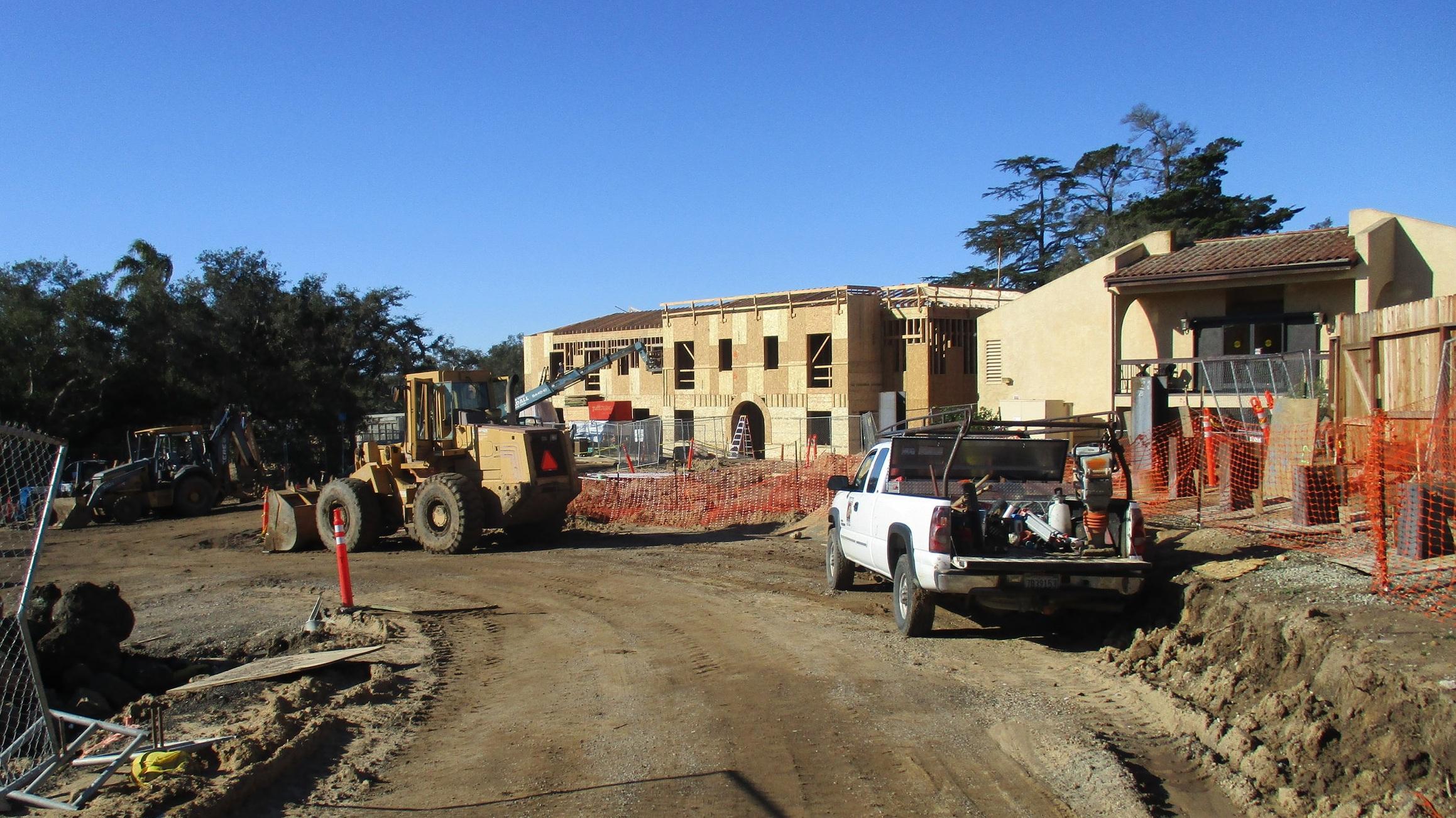 Casa Dorinda, Primary Care Unit, 3/11/19 Sitework at IL and PCU Roughins continue
