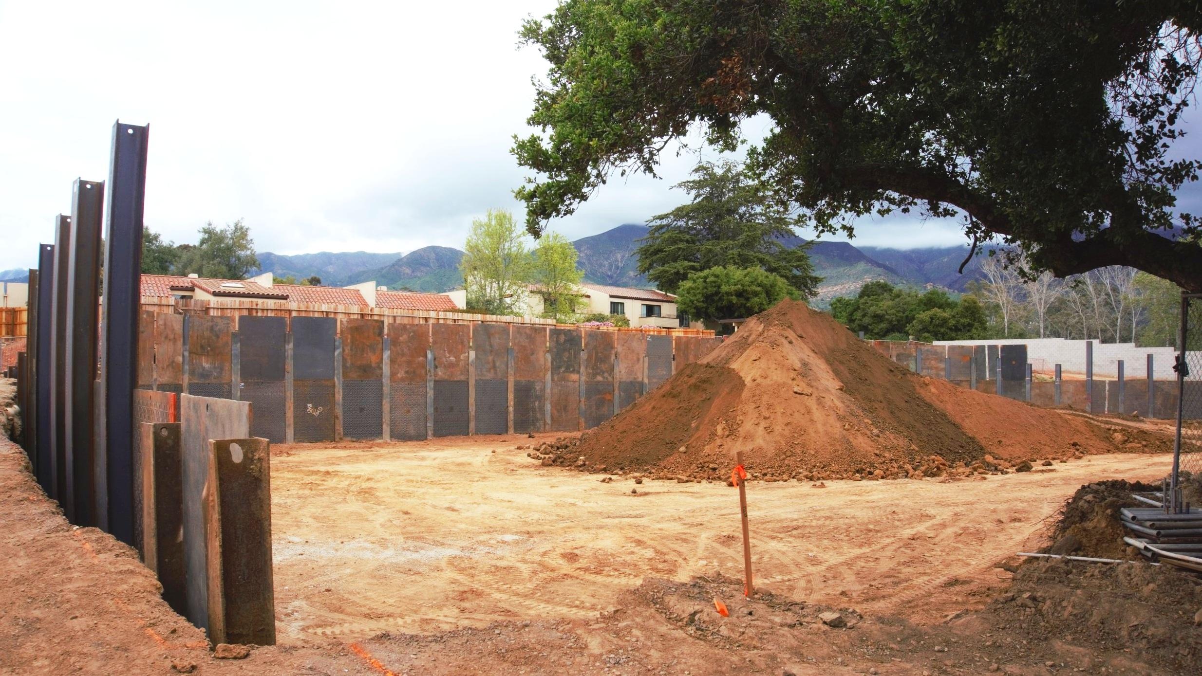 Casa Dorinda, Independent Living, 4/5/19 Shoring Wall