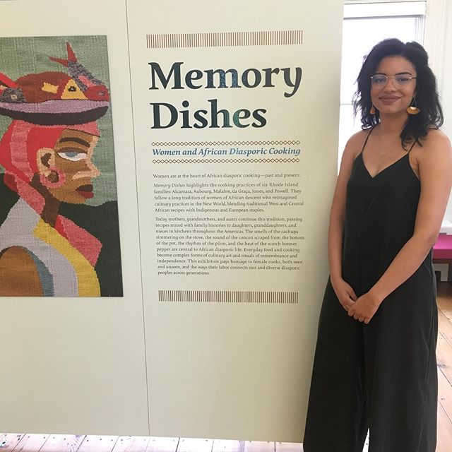 Memory Dishes opened last night at Brown's Center for the Study of Slavery and Justice. Memory Dishes highlights the cooking practices of six Rhode Island families: Alcantara, Aubourg, Malabre, da Graça, Jones, and Powell. They follow a long tradition of women of African descent who reimagined culinary practices in the New World, blending traditional West and Central African recipes with indigenous and European staples. @cssjatbrown @johannuhh #YOTCProvidence2019 #Providence #MyProvidence