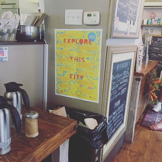 Spotted @benefitjuicebar today: calendar of Year of the City projects in July, August and September! Check them out at www.yearofthecity.com. #MyProvidence #YOTC2019
