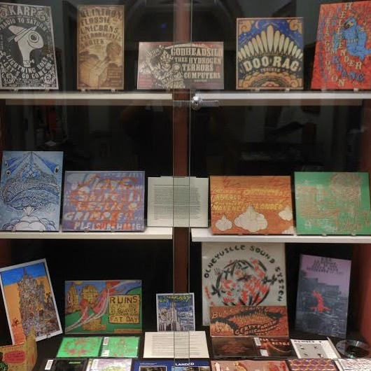 Did you know...Orwig Music Library @brownu has an exhibition up of #FortThunder materials related to this arts collaborative on the west side of #Providence? Open Mon-Fri 9-4 at 1 Young Orchard Ave, open through November 3! @brownuniversitylibrary