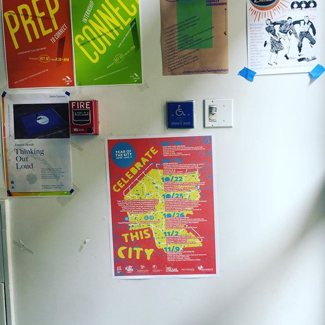 Have you seen...the new poster with Year of the City events from October through December? Check out yearofthecity.com for the full calendar of events! #MyProvidence spotted @risd1877!