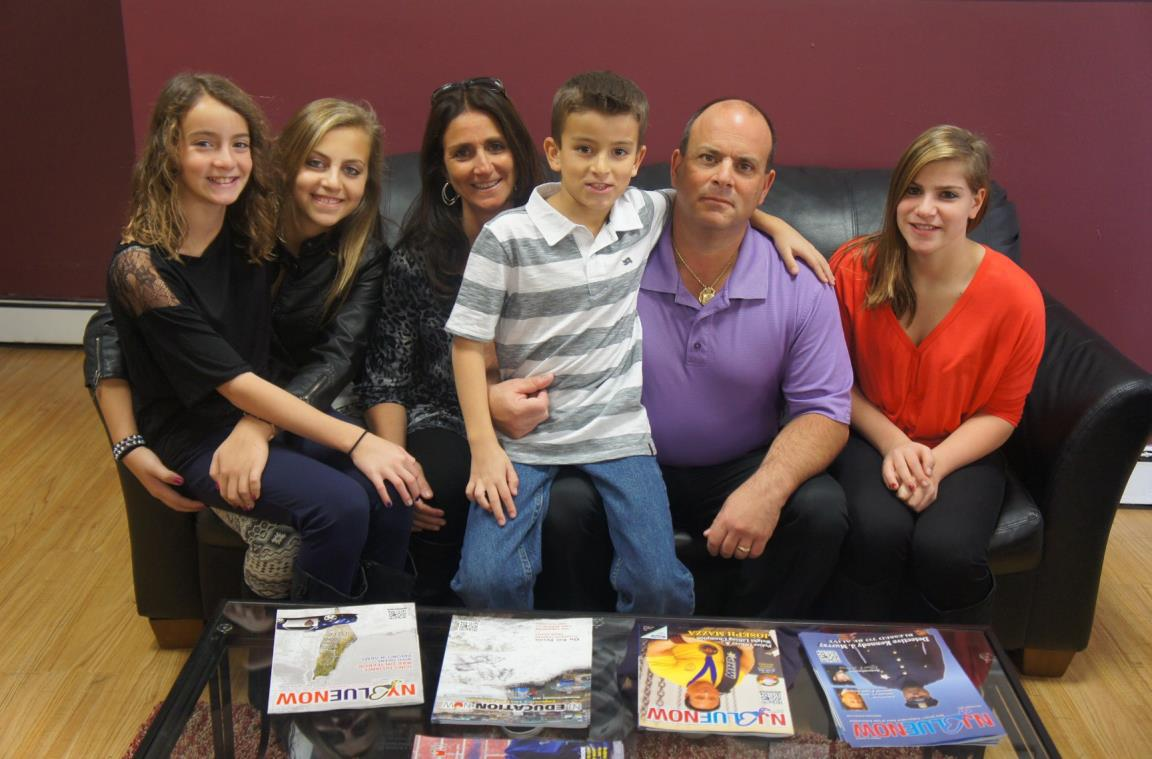 my wife - annamaria, kids - salvatore (missing from photo), jessica, daniella, alyssa, and john jr.