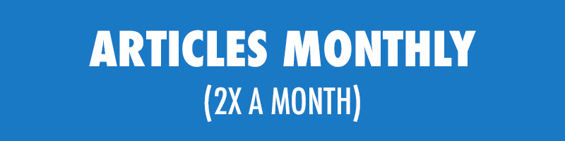 6 Months$700/month ($4,200)—————————————12 Months$500/month ($6,000) - 2 Articles Every Month - Boosted