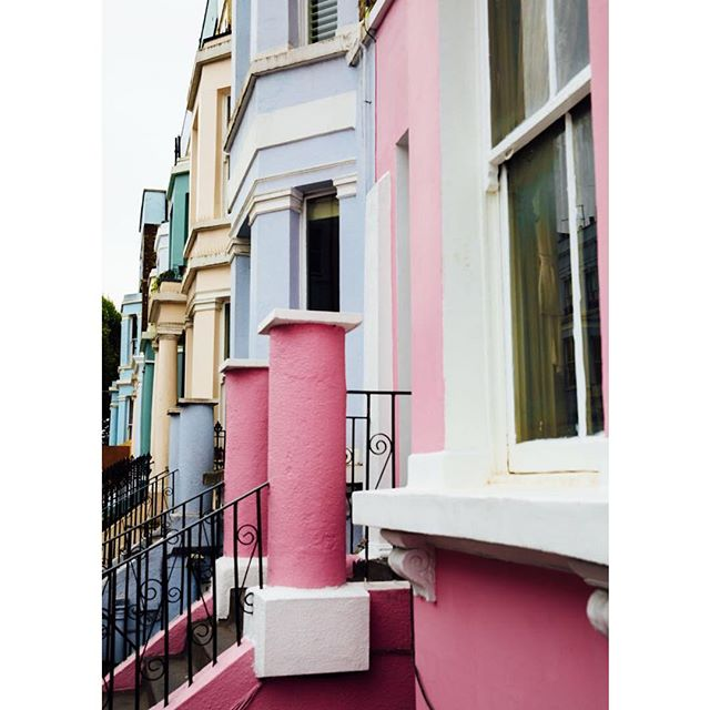 Quite streets of nottinghill before carnival this morning