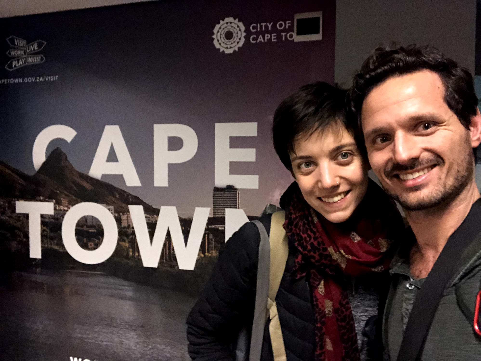 Our arrival at Cape Town airport on January 10th. Happy and excited!