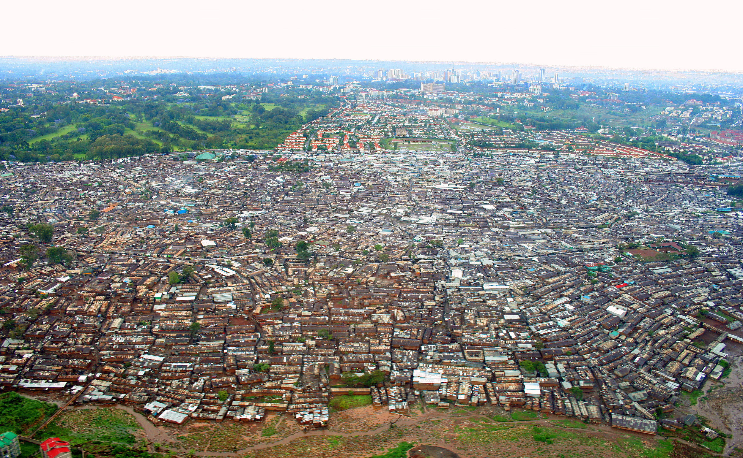 Kibera is the largest slum in Nairobi, and the largest urban slum in Africa
