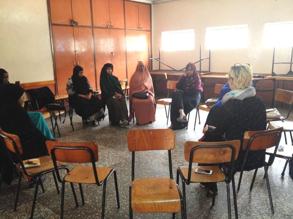 Somali women refugees -