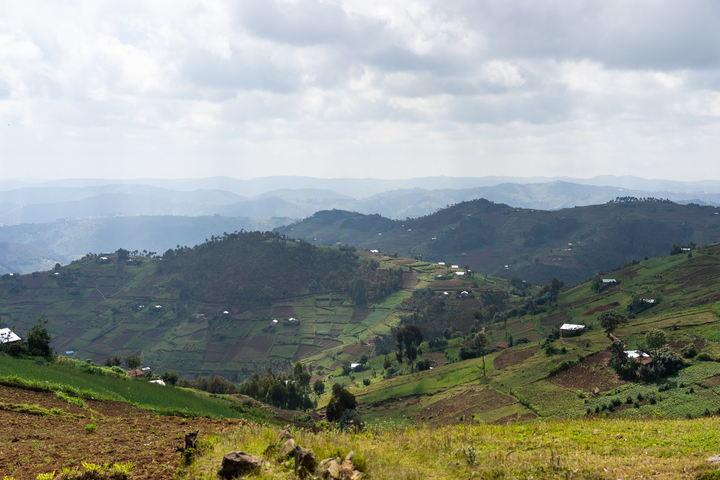 Rwanda is known as the country of a 1000 hills :)