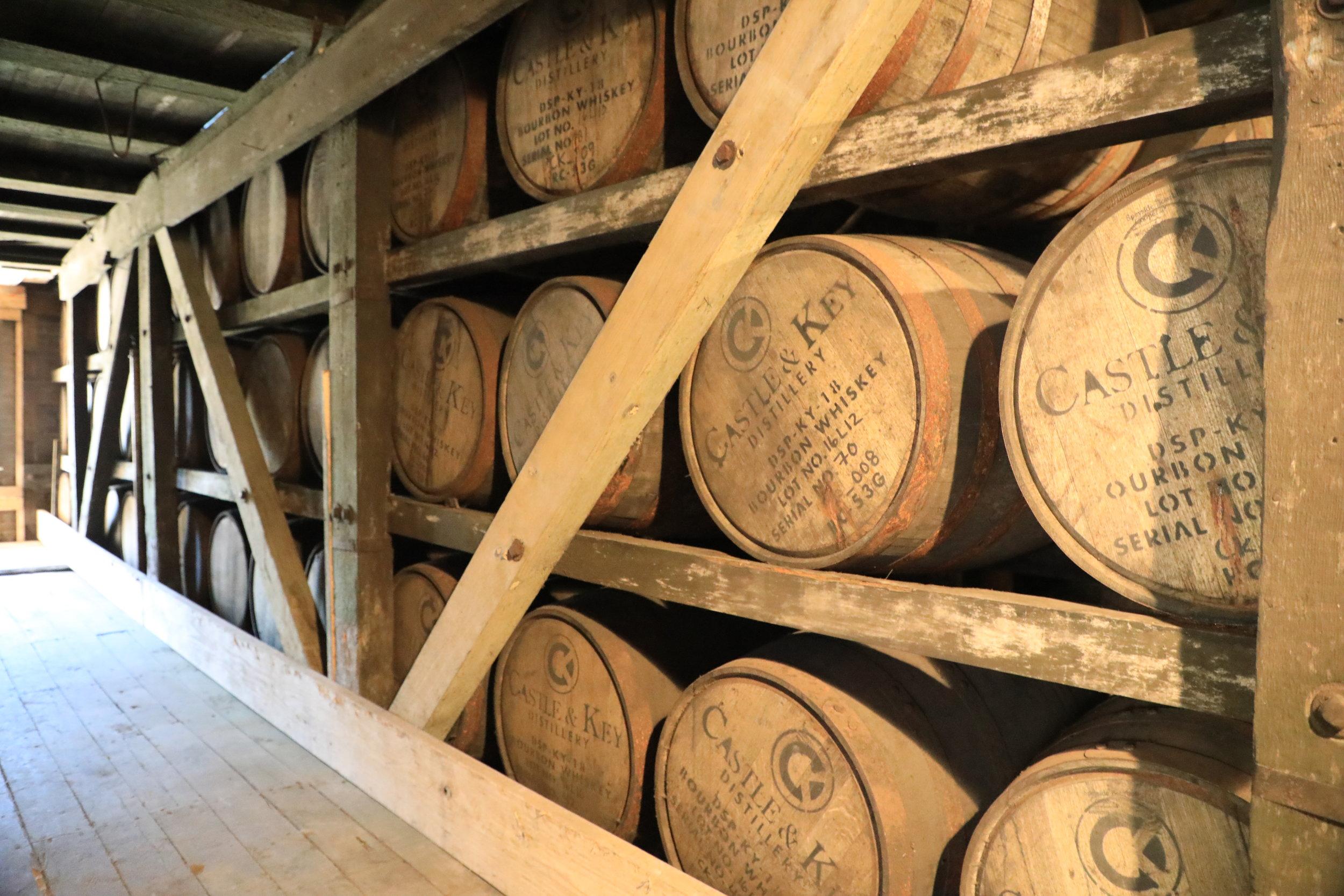 Barrels lying in wait.