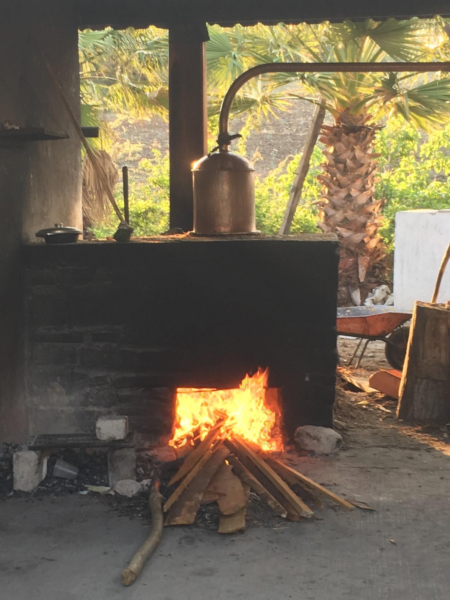Firing up the Copper Pot Still