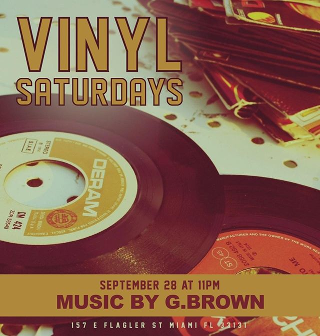 G.BROWN on the one's and two's tonight!  •  •  •  •  •  #WeAreAllLost #downtownmiami #bars #foodie #miami #drinks #flaglerstreet #DJ #cotd #bartender #wateringhole #thirsty #imbibe #florida #FlaglerDistrict #1 #hospitality #vinylsaturdays