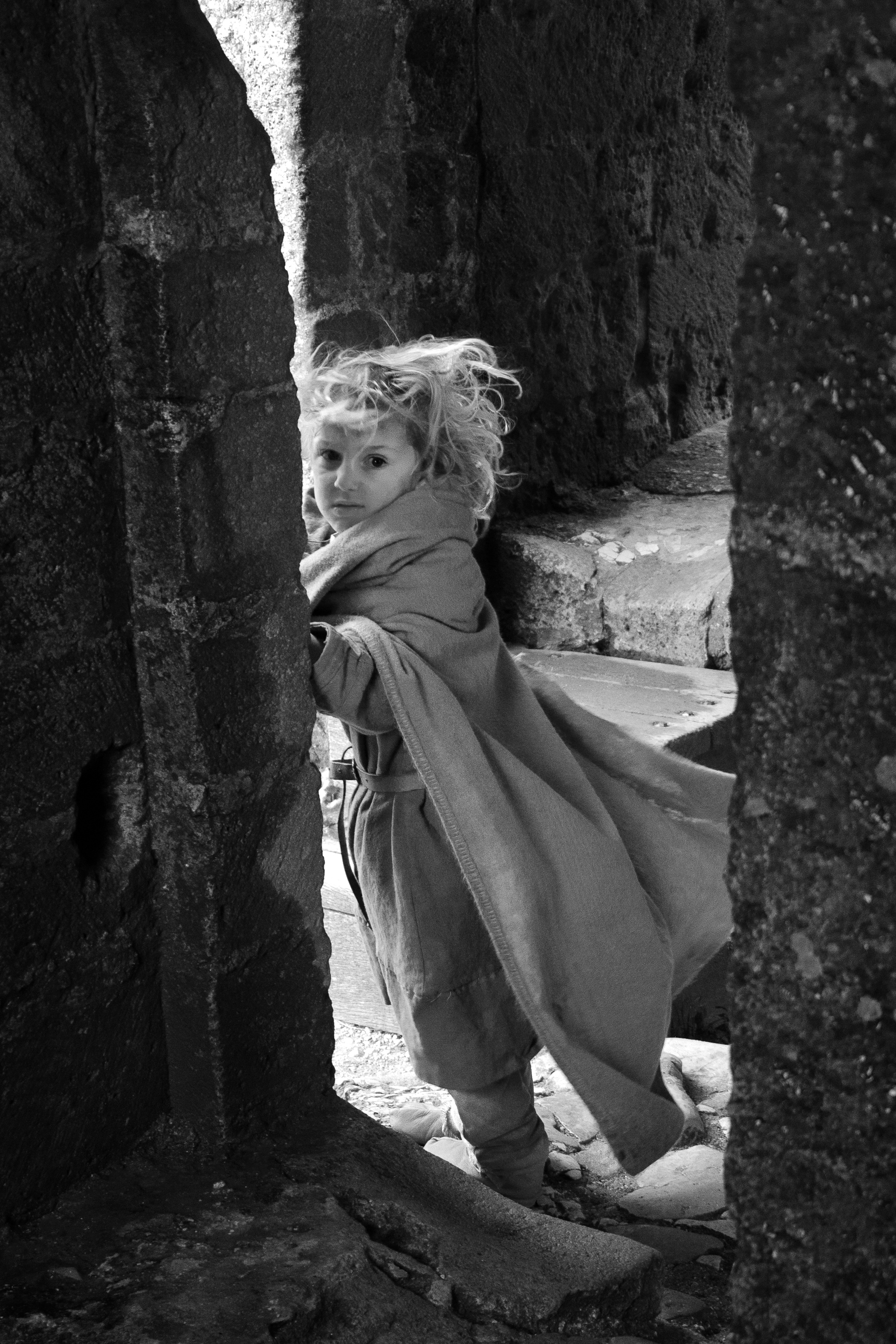 Child at historical re-enactment, Corfe Castle. © Mike Best