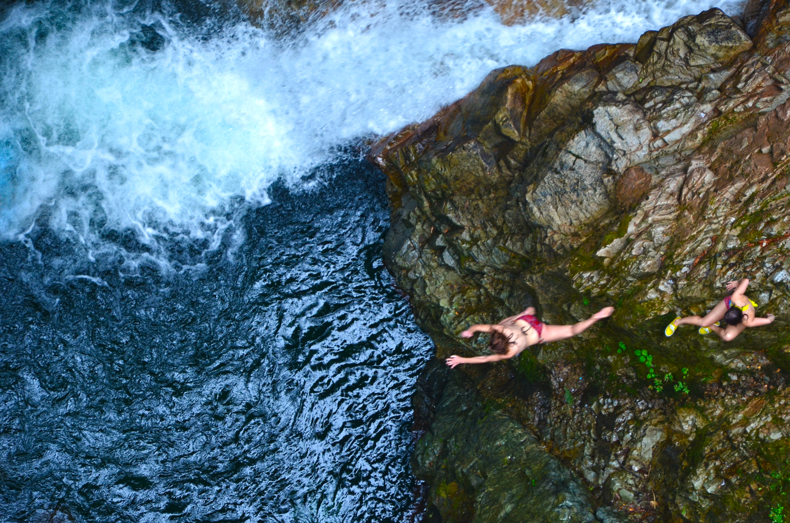 A Leap of Faith    - Cliff divers at Lynn Canyon, Vancouver, Canada.  © Mike Best