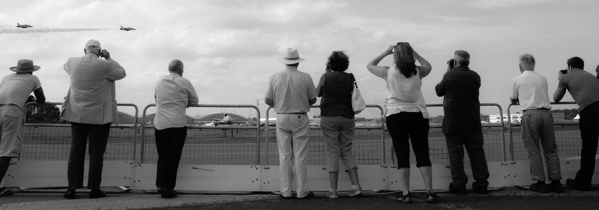 Spectators at Farnborough Air Show, Farnborough, UK 2015. © Mike Best