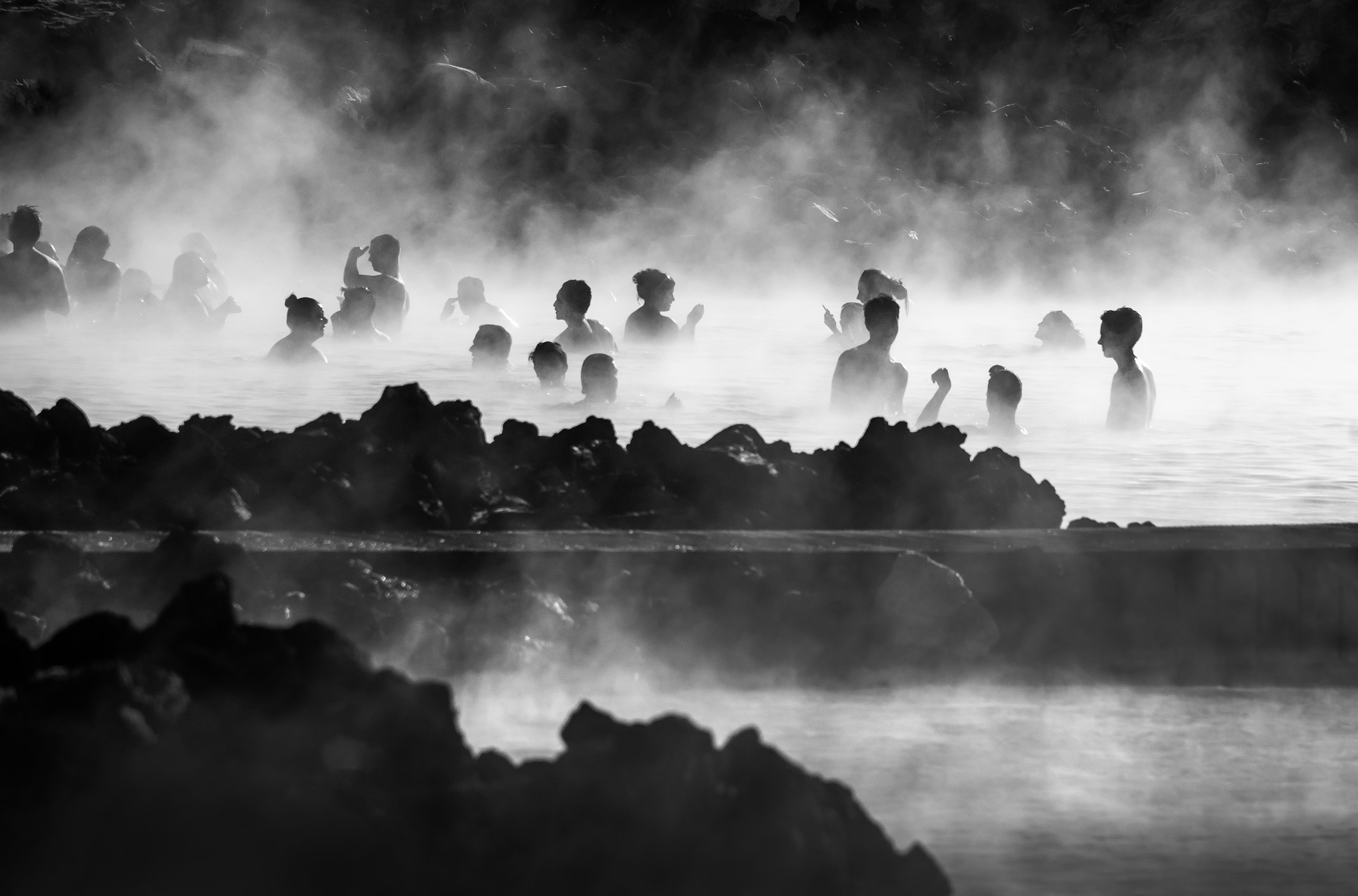 Bathers    -  The Blue Lagoon, Iceland. © Mike Best