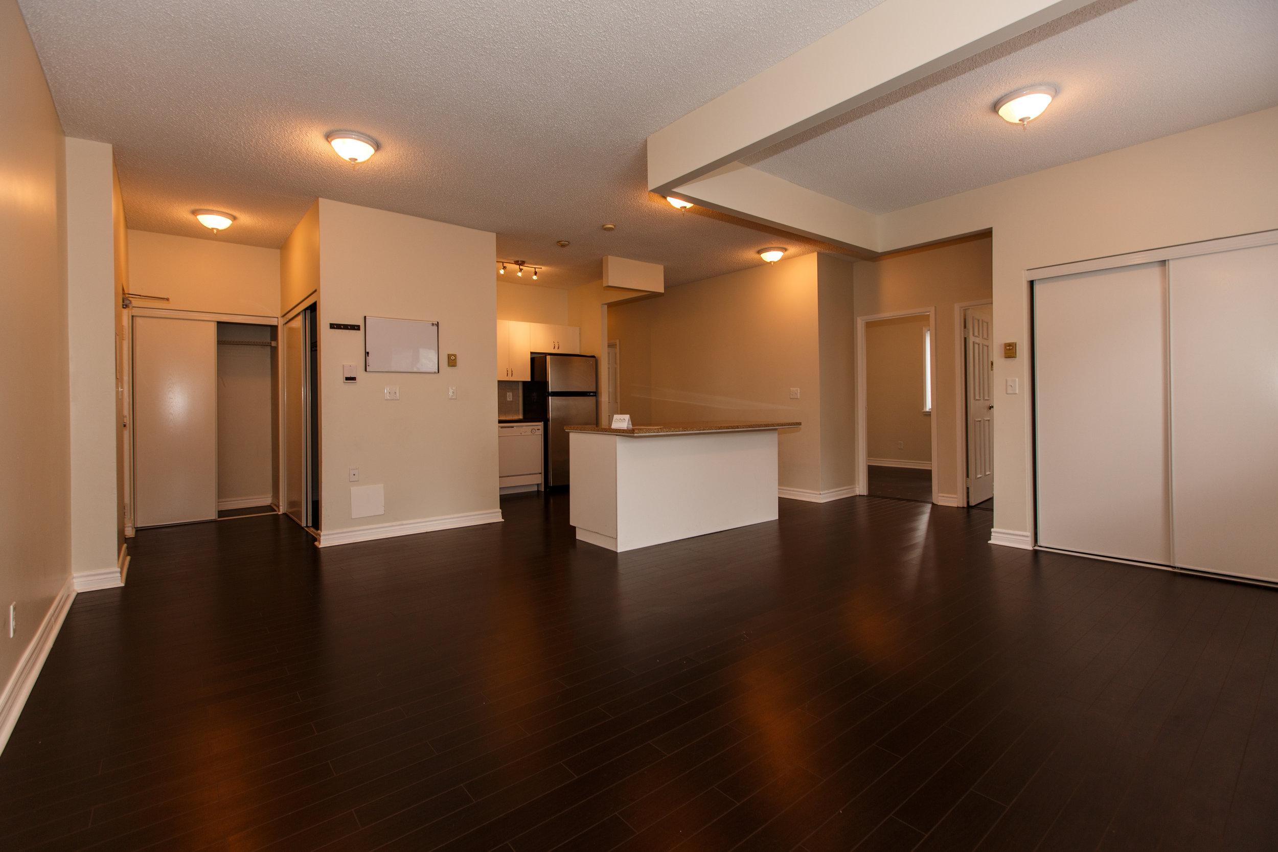 311 Queen St. _u007c_ Living Room Photo looking towards open concept Kitchen and Hallways.jpg