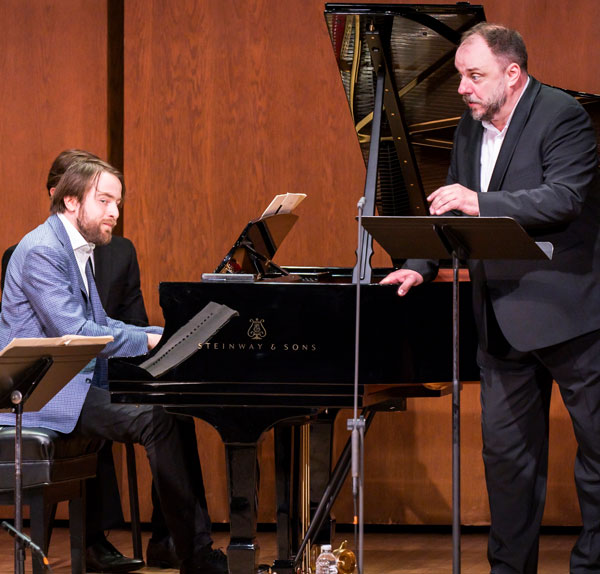 Daniil Trifonov (above) and baritone Matthias Goerne (right) will bring their duo program to Ravinia on July 29.