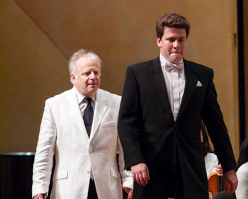 Leonard Slatkin's most recent appearance at Ravinia, in 2008, featured Denis Matsuev performing Rachmaninoff's Third Piano Concerto in his Chicago Symphony Orchestra debut, a combination that will be reprised on August 7.