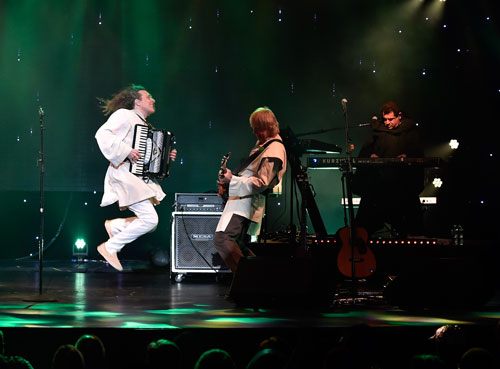 """The accordion is featured not only in several of Yankovic's parodies, such as """"Yoda"""" (above), a spoof of The Kinks' """"Lola"""" inspired by the events of  The Empire Strikes Back , but also in his signature polka medleys, which reinterpret portions of popular songs with polka instrumentation and style rather than set new lyrics to the orignal melody."""