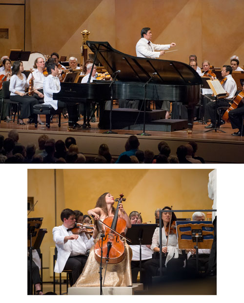 Top: Yu previously appeared at Ravinia in 2007 with Lang Lang, together performing the  Yellow River Piano Concerto  by Chinese composer Xian Xinghai with the Chicago Symphony Orchestra.  Bottom: Alisa Weilerstein returns to Ravinia with the Yu and the Shanghai Symphony for one of her signature solos, Dvořák's Cello Concerto, having most recently taken the festival's stage for Elgar's concerto with the CSO. Both are works that are featured in her acclaimed Decca discography.
