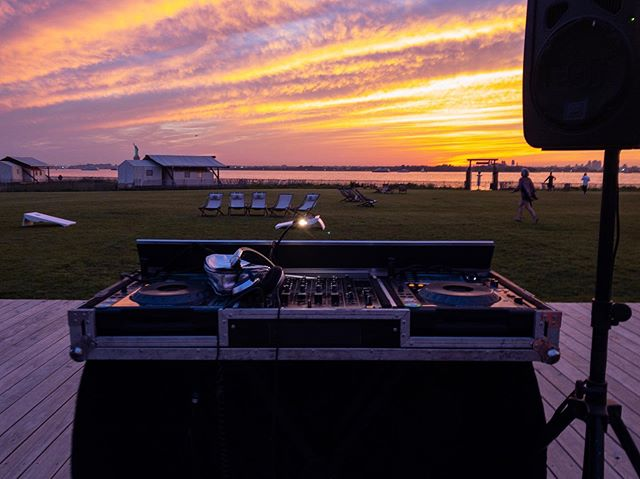 DJ booth with a view... . #bydjsfordjs . #governorsisland