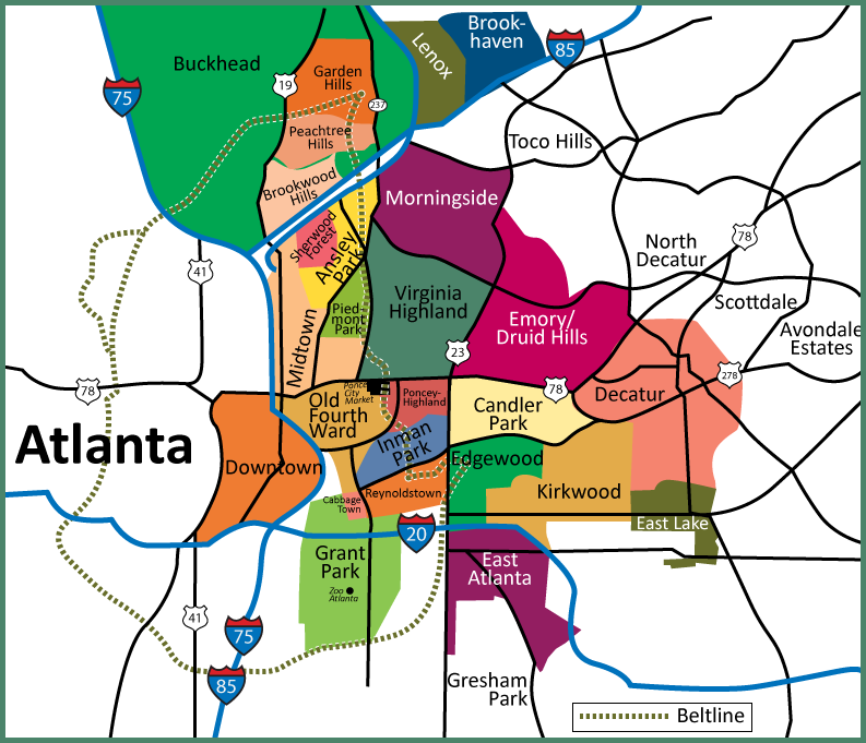 ATLANTA INTOWN NEIGHBORHOODS -