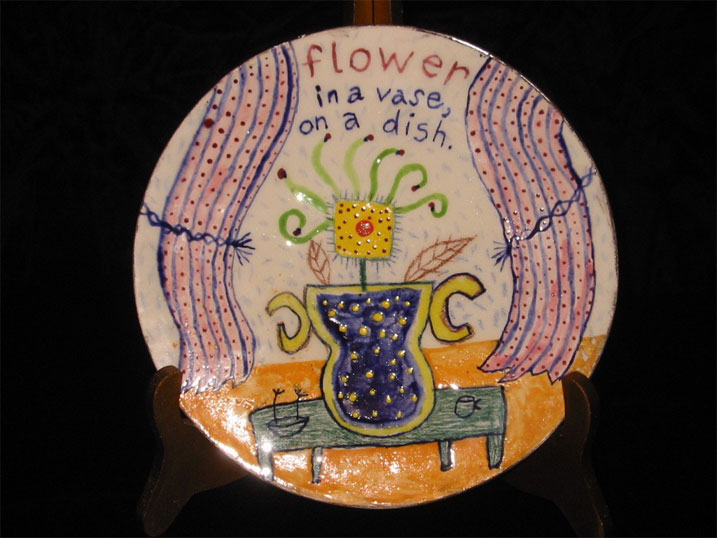 "Flower..Vase..Dish 10"" diameter"